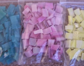 Mosaic Tiles 300 SWEET PASTEL MIX Stained Glass Mosaic tile