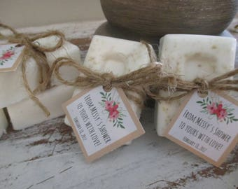 Bridal Shower Favors Soap Floral Rustic Bridal Shower Soap Favors Organic Soap Bridal Shower Favor Soap Bridal Soap Favor Rustic Soap Favor