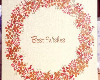 Demo card Wreath Best Wishes