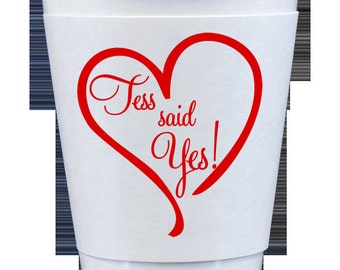 Custom Paper Coffee Cups with Insulated Sleeve Wrap 12 oz - NO LIDS