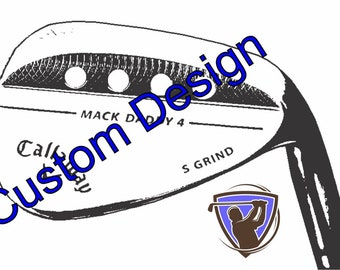 Callaway Mack Daddy 4 Golf Wedge with your design request-