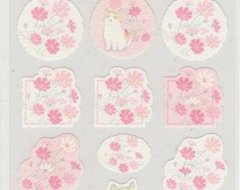Cat Stickers - Pretty Flower Stickers - Hallmark - Reference A4837