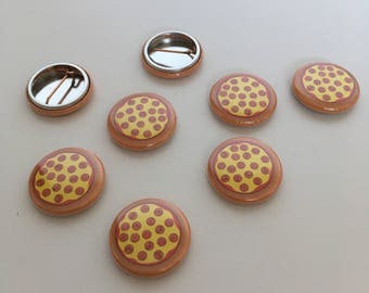 Pepperoni Pizza 1 inch Badge