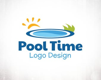 Premade Logo Design • Pool Time