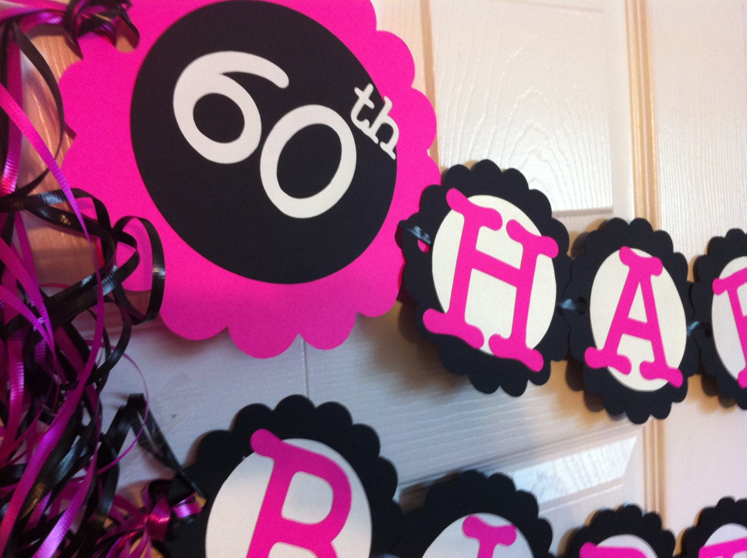 60th Birthday Color Ideas: 60th Birthday Decorations Personalization Available