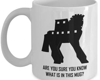 Trojan Horse Mug Are You Sure You Know What Is In This Mug
