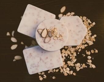 Almond Oatmeal Soap, Goats Milk Soap, Oatmeal Soap, Almond Soap,Artisan Soap, Handmade Soap