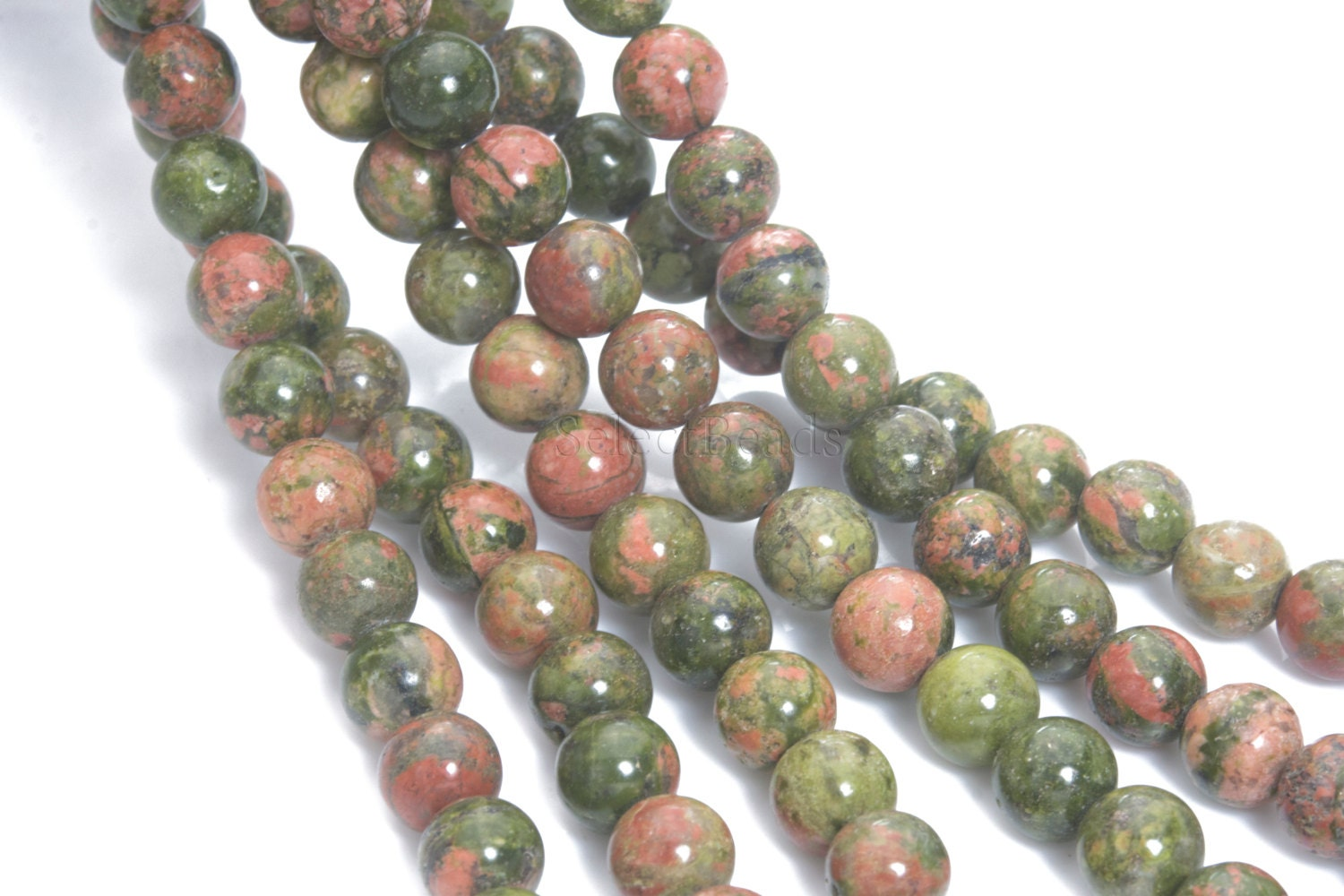 opalite mala meditative beads d gemstone faceted with unakite products bead wisdom fm necklace