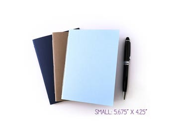 """Small BULLET JOURNAL Set of 3 with Calendars, 5.625"""" x 4.25 - Dot Grid Pages, Notebook Planner, Bujo, Pocket Notebook, Travel Journal"""