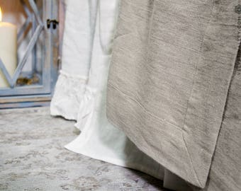 Linen full double queen king size bedspread- softened linen bed cover-bed quilt-Pre washed not bleached linen bed cover-Softened linen throw