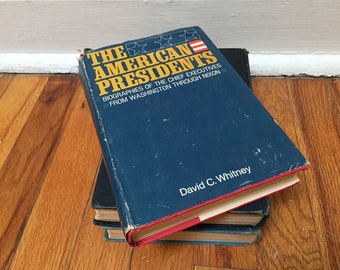 The American Presidents Vintage Book Distressed Hardcover History Red Blue by David C. Whitney 1969