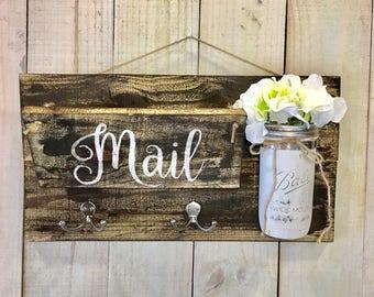 Entry Door Mail Organizer | Catch All- Honey