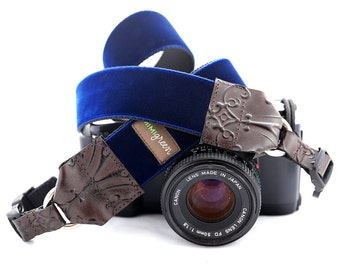 The Noel Velvet Camera Strap with Quick Release Buckles -- 1.5 inches wide