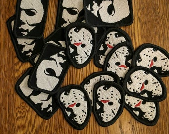 Horror Patches (michael, myers, halloween, the shape, jason, voorhees, friday the 13th, horror, movie)