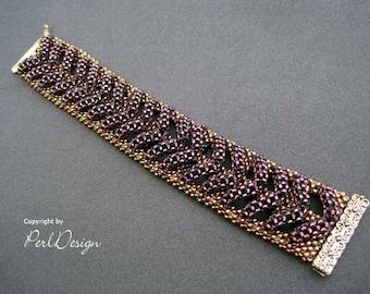 "Deutsch - Tutorial Bracelet ""Fishbone"" (PDF) - Armband"