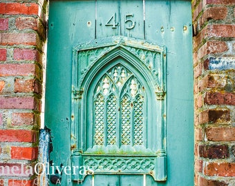 Charleston photography, charleston sc, charleston photo, charleston door, teal door, door photography, wall art, charleston art, 4x6, 5x7