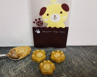 Peanut Butter Paws- Dog Treats
