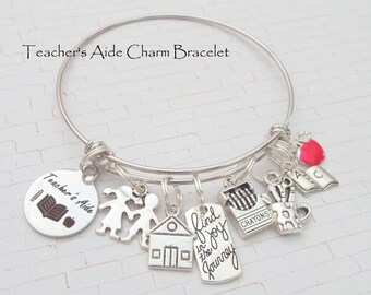 Teachers Aide Gift, Gift for Teachers Aide, Teachers Christmas Gifts, Gift for a Teacher, Personalized Gift for Her, Custom Womens Jewelry