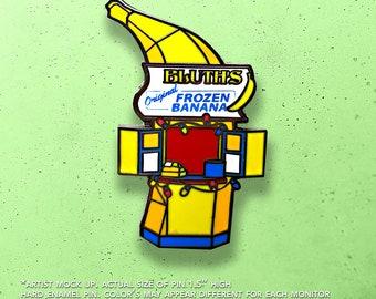 Bluths Frozen Banana Stand Geek Pin / Lapel Pin / Hat Pin by Tom Ryan's Studio