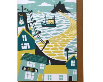 St Michael's Mount, Marazion - Greetings Card
