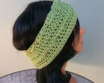 Crochet Headband, Green Crochet Headband/Ear Warmer, Crochet Ear Warmer, Handmade Headband