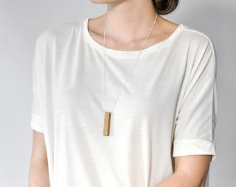 Minimal chain wood - flexible cotton cord