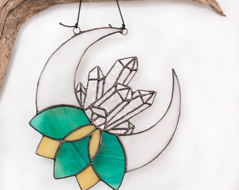 Stained Glass Moon Crystal