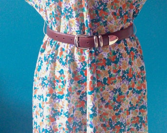 Small size 44 Vintage floral dress