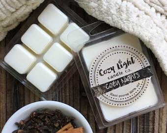 Cozy Nights Soy Wax Melts | Tarts | Clamshell Mold