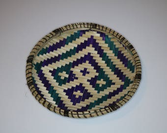 Winnowing tray made of wicker material   Uteo   Wooven Tray