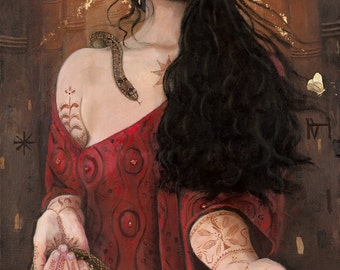 """Inanna -Reproduction Giclee on canvas 24""""x 48"""""""