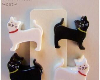4 mini clips CATS - Midori