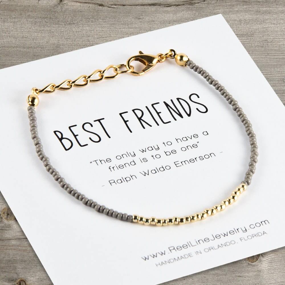 Gold beste Freunde-Armband-Perlen Freundschaftsband beste