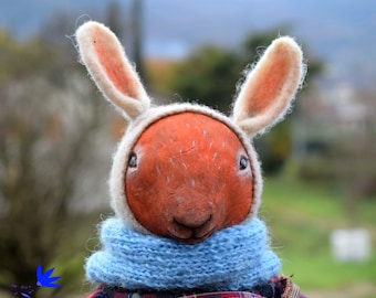 Animal doll Hand made doll Squirrel totem Paper mache doll Teddy doll Hugge style Doll for home Clothes doll