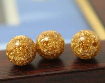 Gold Foil Beads,6mm 8mm 10mm 12mm, 20pcs