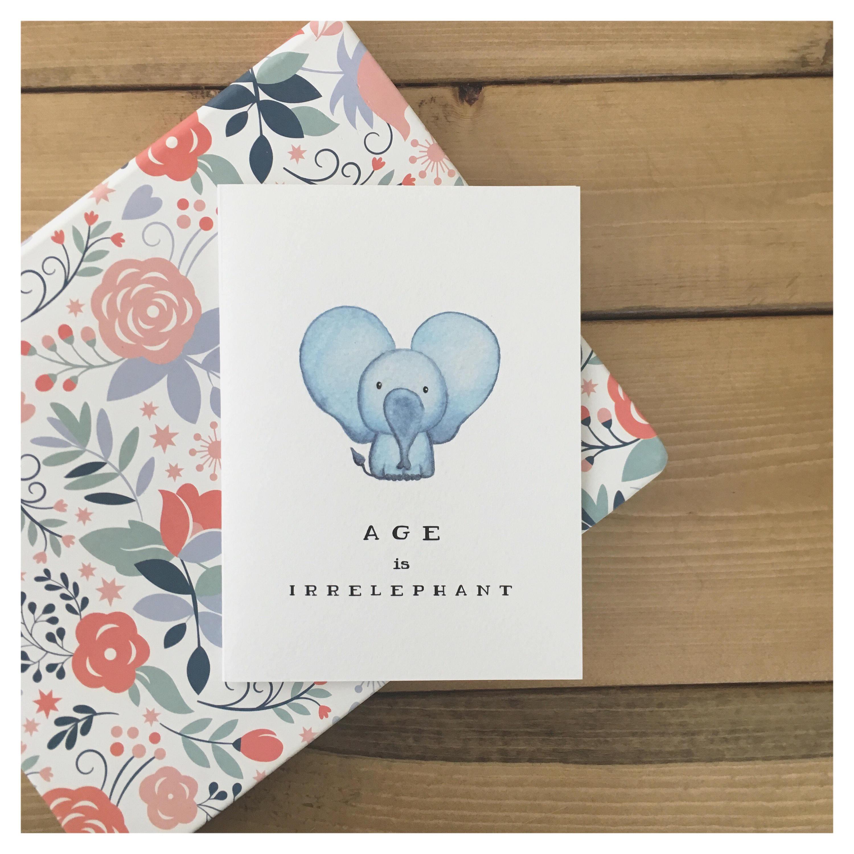 ELEPHANT CARD // Funny Birthday Card, Birthday Card, Cute Birthday Card, Greeting Card, Cute