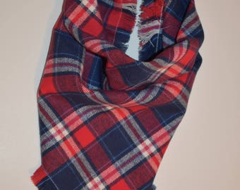 Red, White, and Blue Flannel