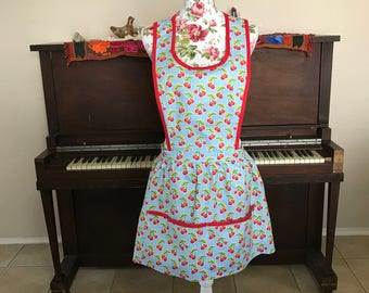 Vintage Inspired Cherry Print Apron