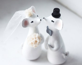 Wedding Cake Topper, Love Mouses, Mouse Cake Topper