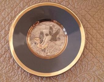 Chokin Art Gilded Plate