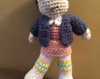 Made to Order Eleven Stranger Things inspired Amigurumi Doll