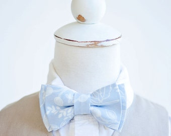 Bow Tie, Bow Ties, Boys Bow Ties, Baby Bow Ties, Bowties, Ring Bearer, Wedding Bow Ties, Rifle Paper Co - Queen Anne In Pale Blue