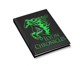 Ilyon Chronicles Green Horse Journal  Ruled Line
