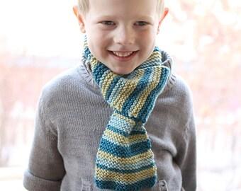Kids Loop Scarf KNITTING PATTERN / Loop Scarf Pattern / Kids Scarf Pattern /Toddler Scarf/Kids Knit Scarf/Easy Scarf Pattern/Boys Knit Scarf