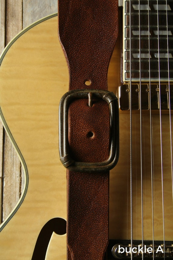 "GS78A Leather Guitar Strap with Buckle, 2 1/2""width"