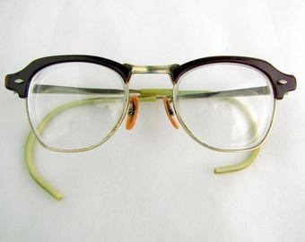 Vintage 1940/50s Wire Bottom Bi-Focals  Cats Eye Small