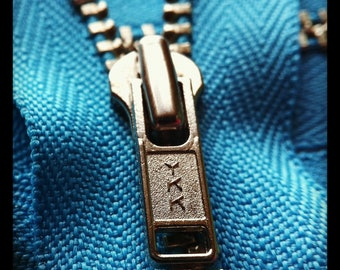 Metal Zippers- YKK closed bottom nickel teeth zips- (5) pieces - Parrot Blue 547- Available in 6,7,9,12,14 and 18 Inch