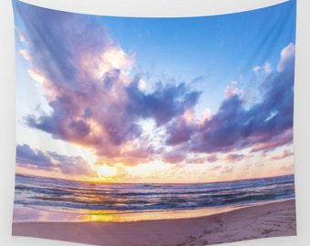Sunset Lilac Tapestry Violet Sunset Tapestry Sunshine Tapestry Photo Tapestry Sea View Tapestry Wall Hanging Sky Tapestry Sea Tapestry