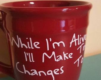 Frightened rabbit coffee mug