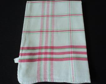 French vintage metis linen tea towel / torchon (05151)